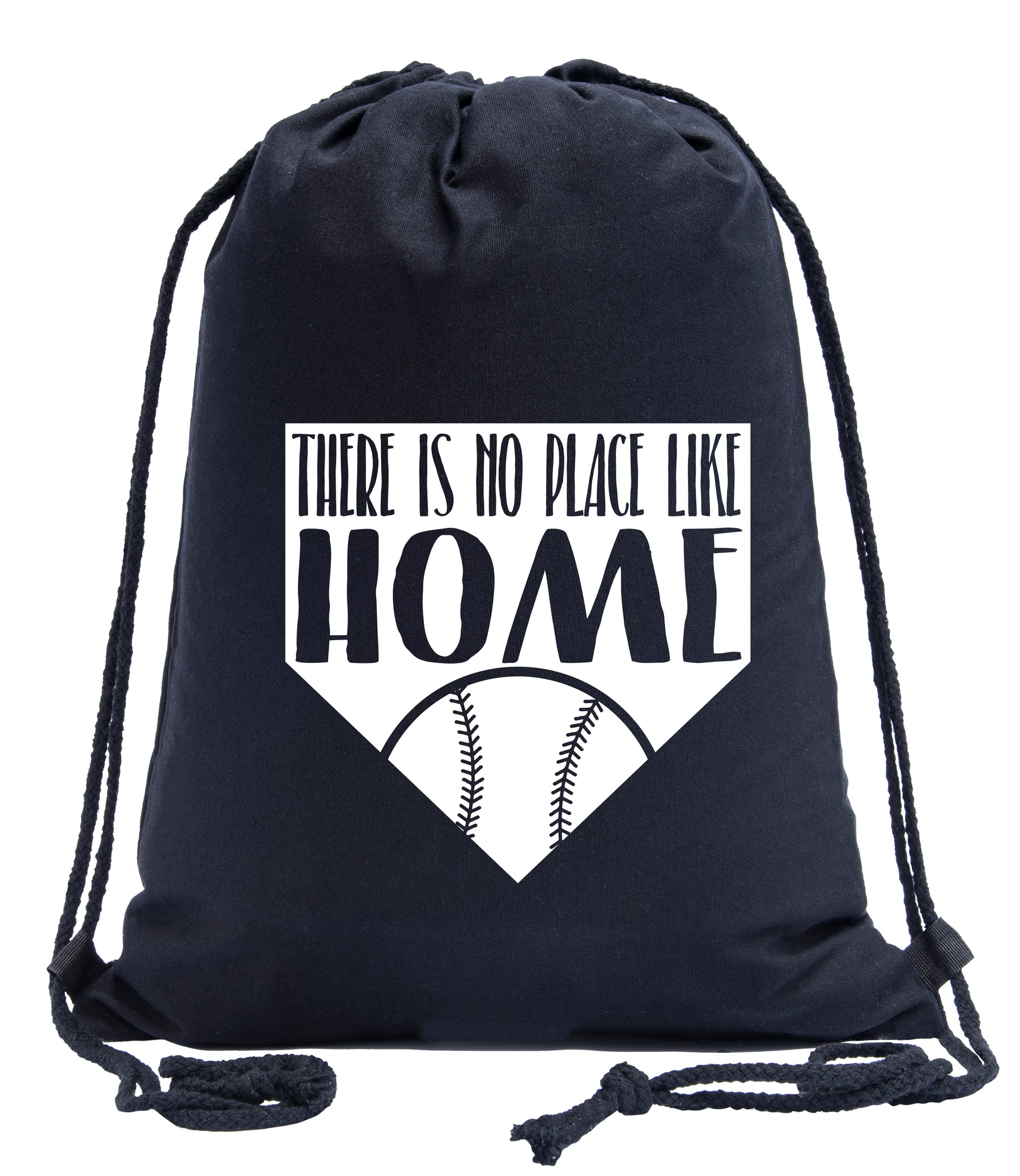 There Is No Place Like Home - Plate and Ball Cotton Drawstring Bag