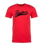 Baseball Style Father with Custom Number Men's T-Shirt