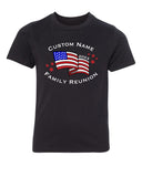 Shirt - American Flag With Custom Name -Family Reunion Youth T-shirts