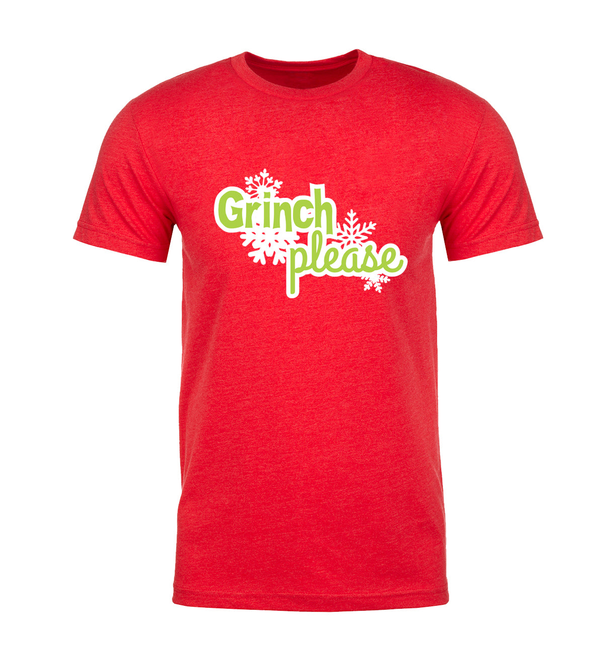 Grinch Please - Snowflakes Mens T Shirts