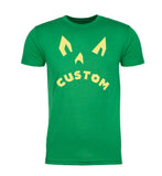 Shirt - Angry Jack O Lantern Custom Men's T-shirts, Funny Graphic Tees, Halloween Tops!