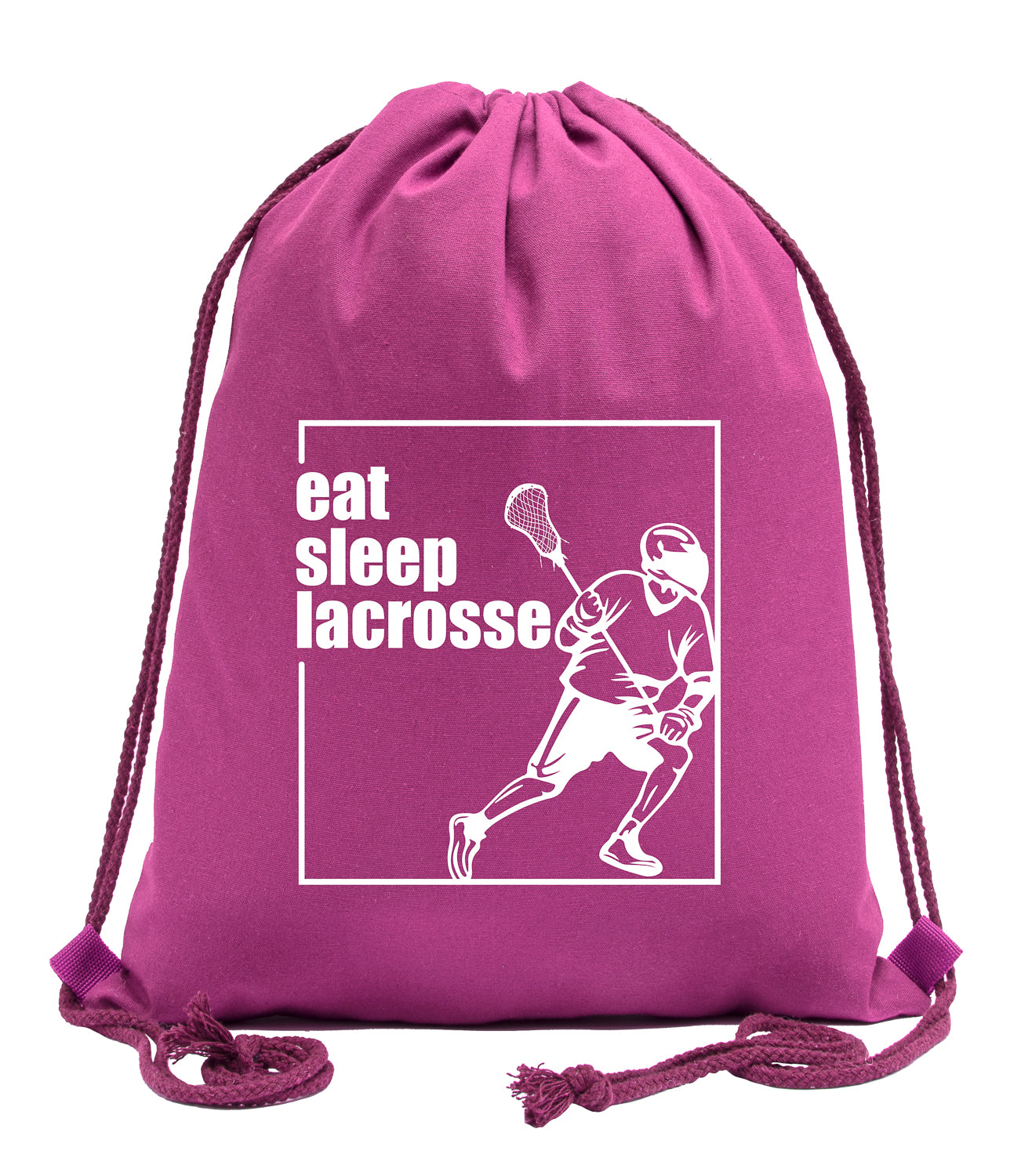 Eat Sleep Lacrosse Male Cotton Drawstring Backpack