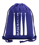 Wood Bats Cotton Drawstring Bag