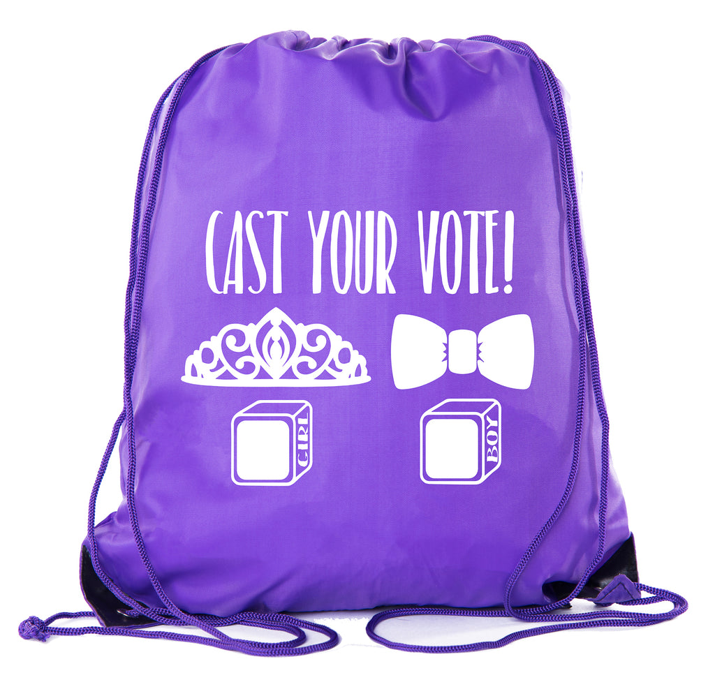 Accessory - Baby Shower Party Favors Favor| Baby Shower Drawstring Backpacks, Baby Shower Favors For Gender Reveal - Cast Your Vote