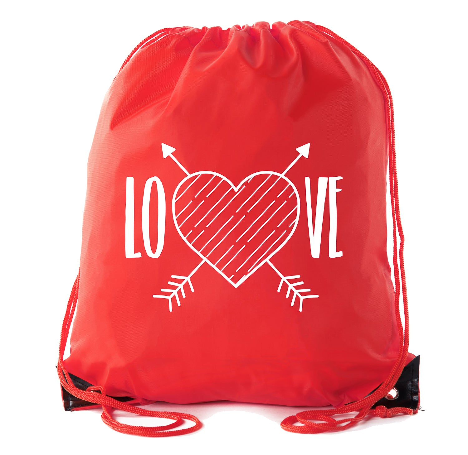 Accessory - Valentine's Day Bags, Drawstring Cinch Backpacks, Valentines Day Gift Bags - Love
