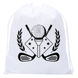 Accessory - Mato & Hash Mini Drawstring Golf Bags | Golf Favor Bags For Leagues And Parties - Golf Emblem