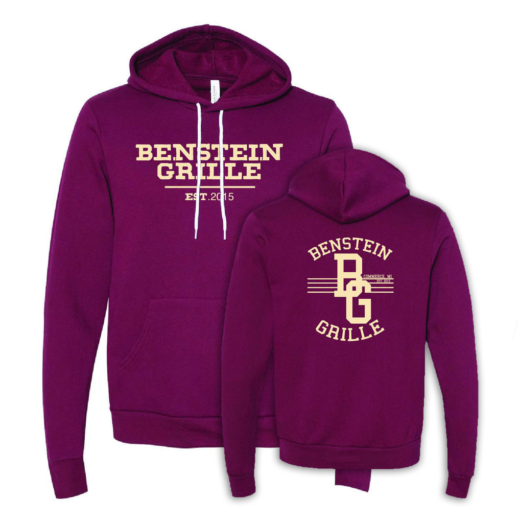 "Benstein Grille ""Ben Eating, Ben Drinking Ben Serving"" Cozy Hoodie EST. W/BG Diner Design"