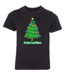 Shirt - Christmas Tree With Custom Name- Family Reunion Youth T-shirts