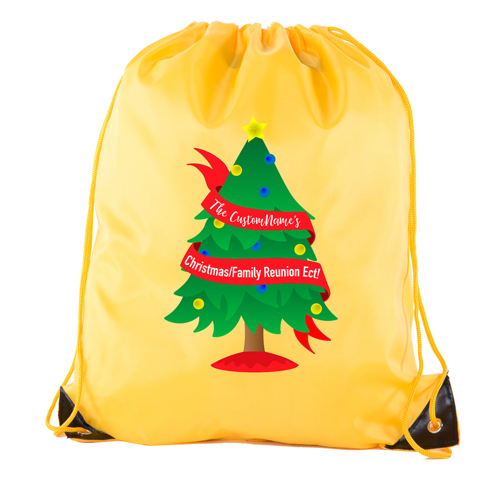 Accessory - Christmas Tree Banner With Custom Name- Family Reunion Party Favor Bags