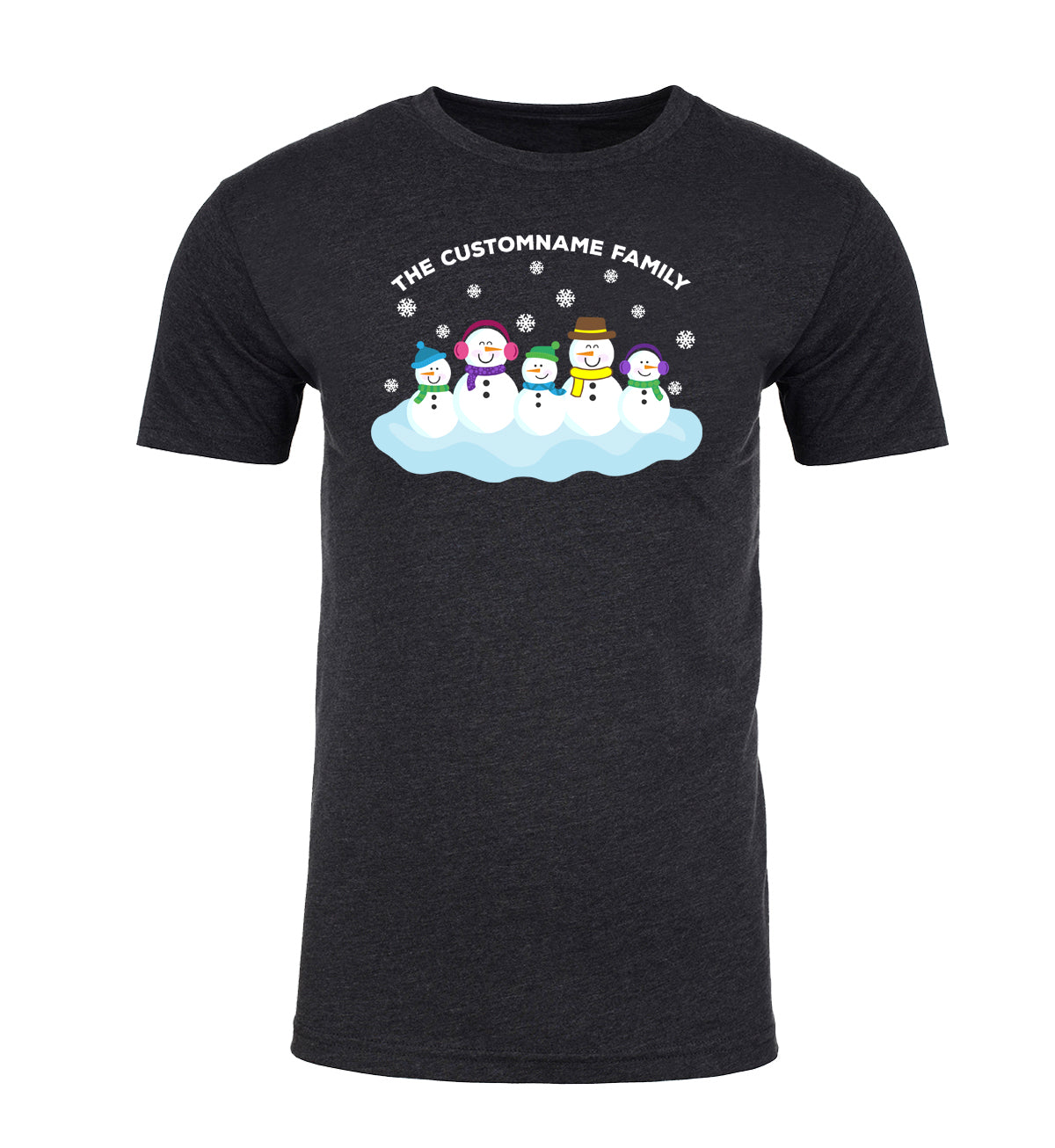 Shirt - Snowman Family With Custom Name-Family Reunion Men's T-shirts