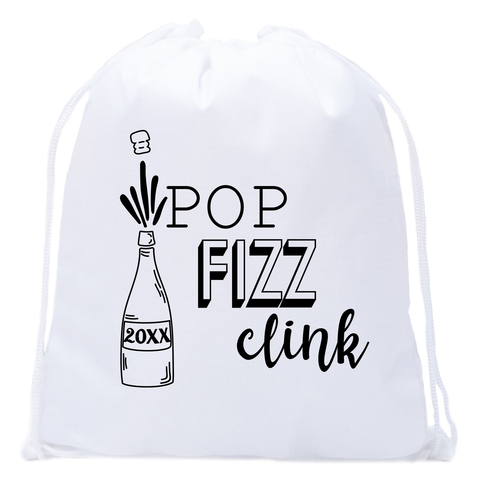 Accessory - New Year's Eve Party Goody Bags, Table Top New Years Decorations, 2019 Gift Bags - Pop Fizz Clink