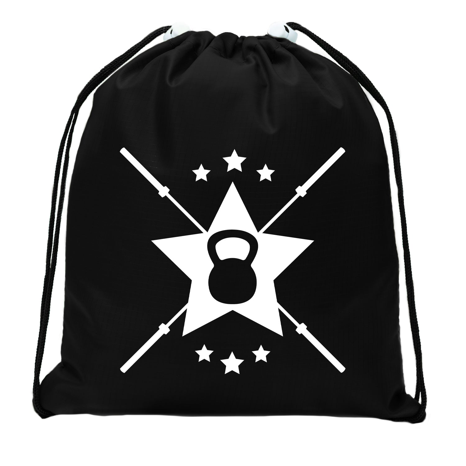 Accessory - Extreme Fitness Bags, Powerlifting Drawstring Backpacks, Mini Gym Cinch Sacks - Emblem