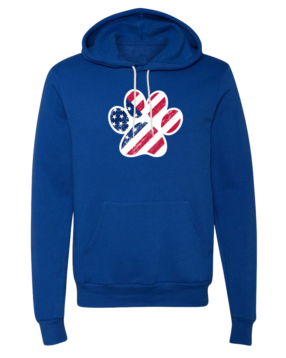 Sweater - American Flag In Dog Paw, Fatriotic Sweatshirts, 4th Of July Hoodies