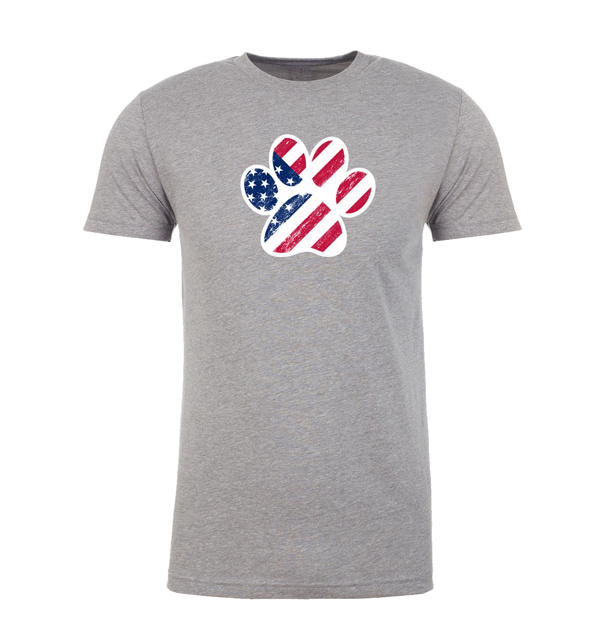 Shirt - American Flag Dog Paw, Men's Graphic T-shirts, 4th Of July T-shirts