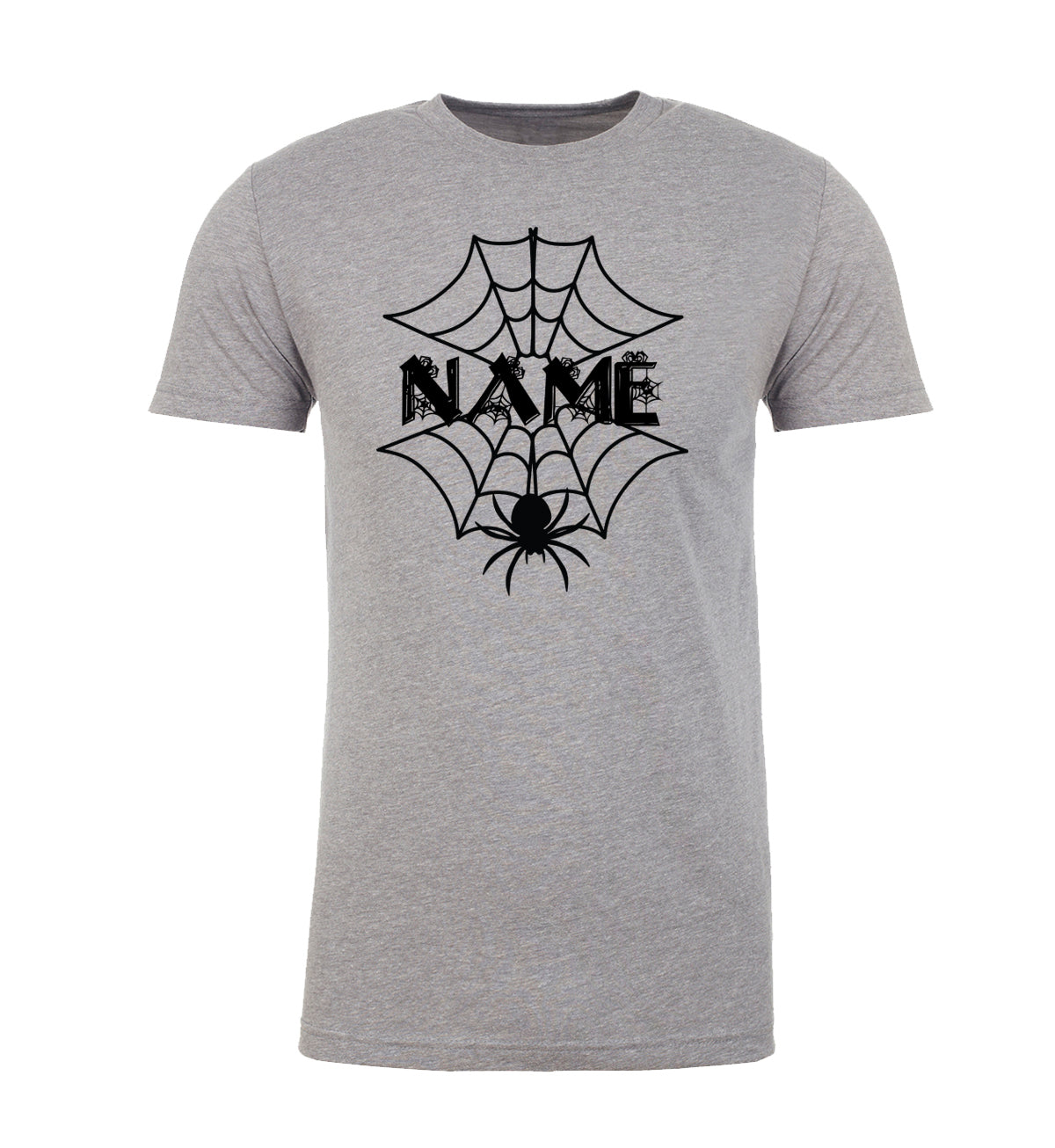 Shirt - Custom Spider Web Name T-shirts, Funny Graphic Tees, Halloween Man's T-Shirts!