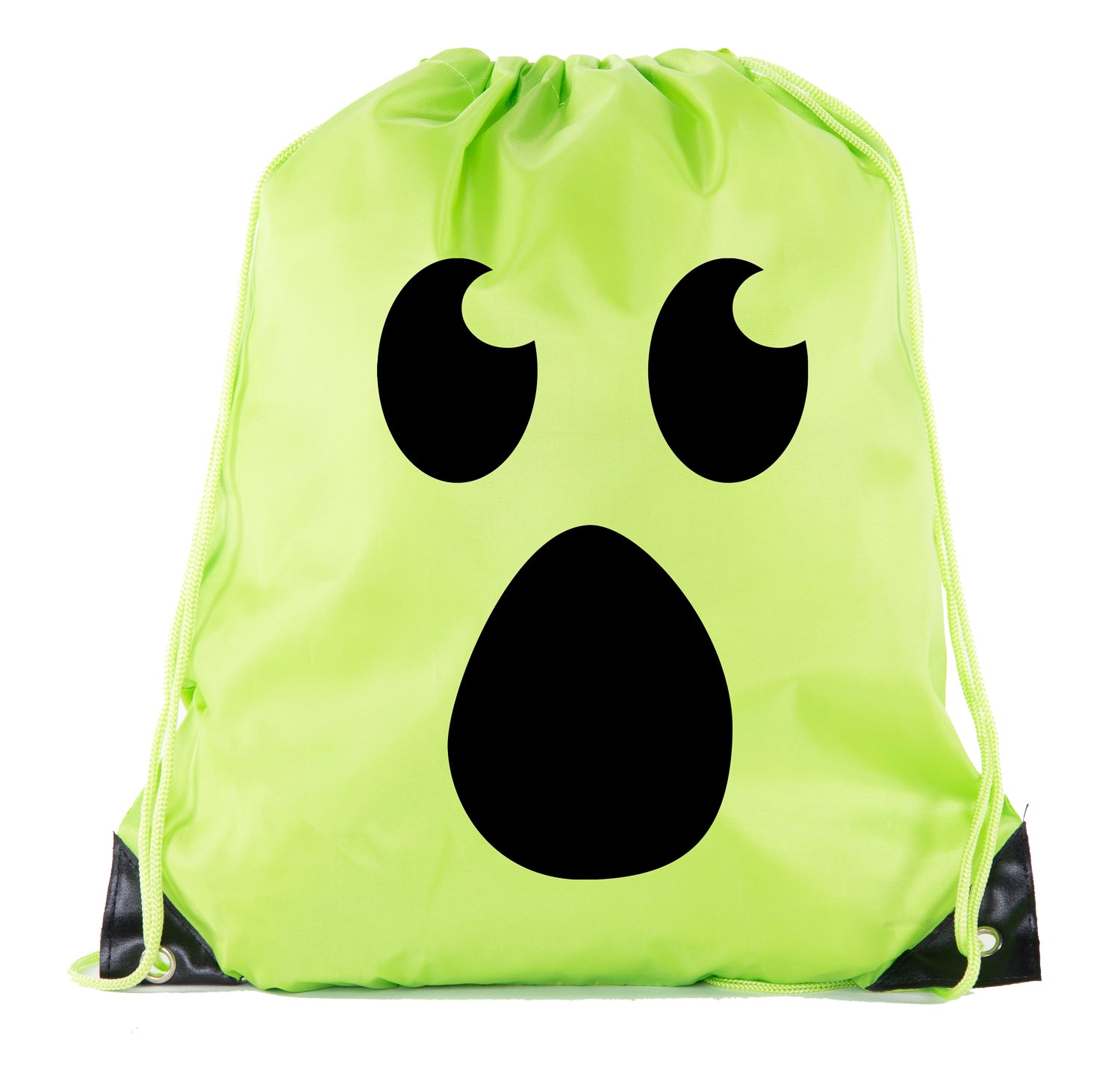 Accessory - Halloween Drawstring Bag | Halloween Trick Or Treat Bag For Candy, Parties And More! - Ghost