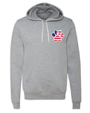 Sweater - American Flag Paw Print, 4th Of July Hoodies, Patriotic Hoodies