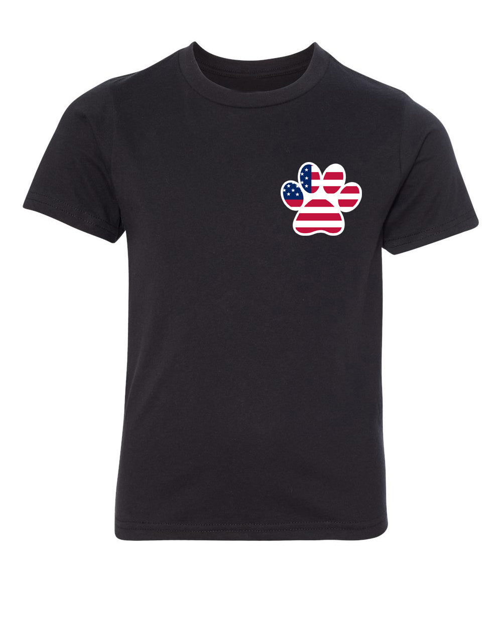 Shirt - American Flag Paw Print, Kids Gaphic T-shirts, 4th Of July Shirts