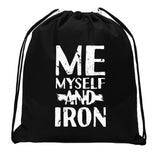 Accessory - Mini Drawstring Gym Bags, Inspirational Gym Bags With Workout Motivation Quotes - Me & Iron