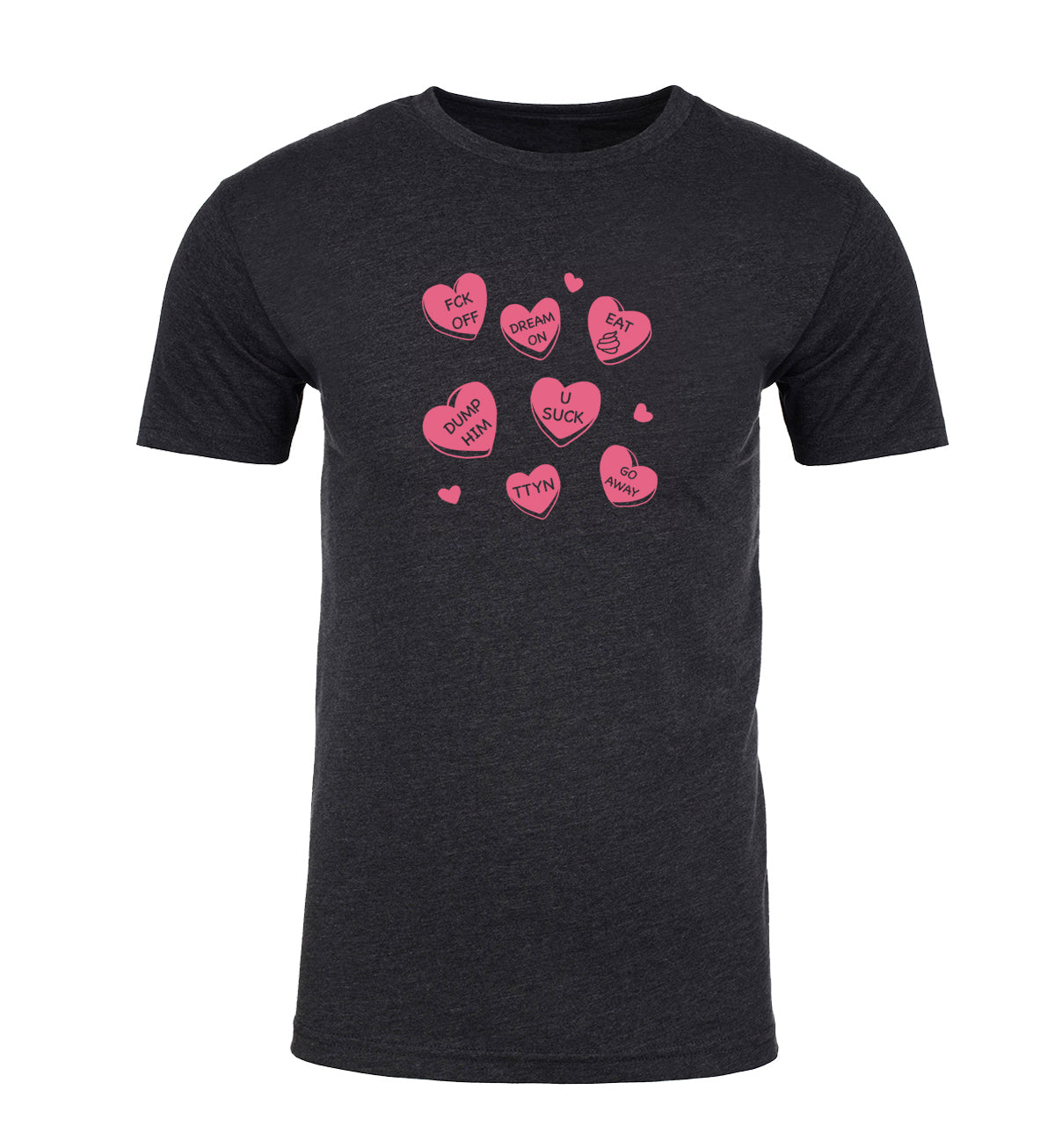 Anti Valentines Day Candy Hearts Mens T Shirts
