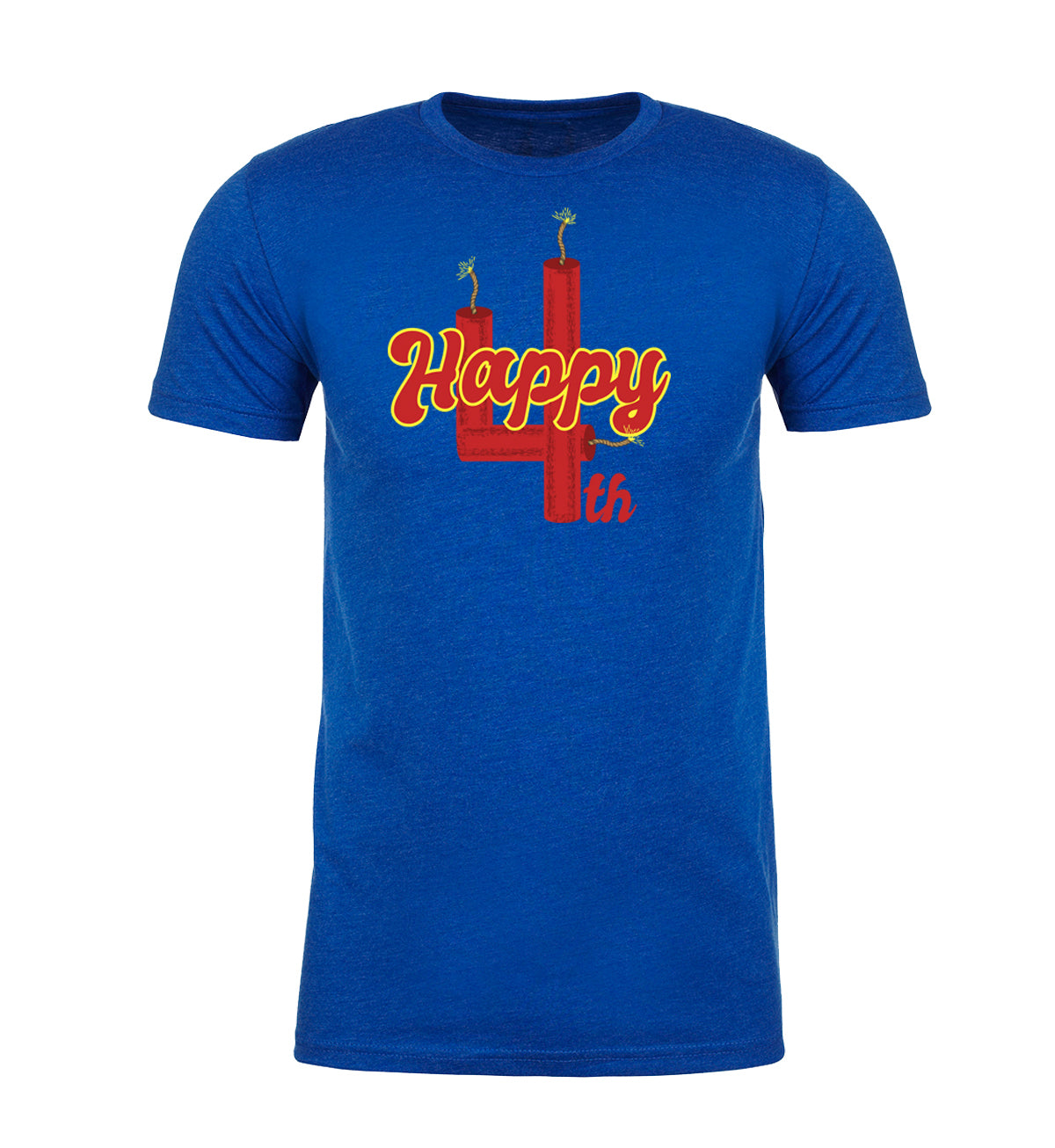 Shirt - Happy 4th Firework T-shirt, Men's 4th Of July Shirts, Independence Day Shirts