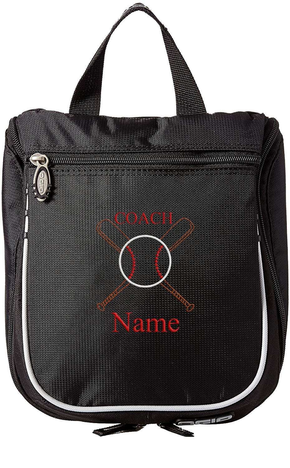Accessory - Baseball Toiletry Bag, Personalized Men's Shaving Kit, Hanging Travel Case