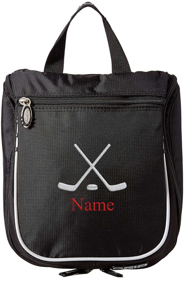 Accessory - Hockey Toiletry Bag, Personalized Men's Shaving Kit, Hanging Travel Case