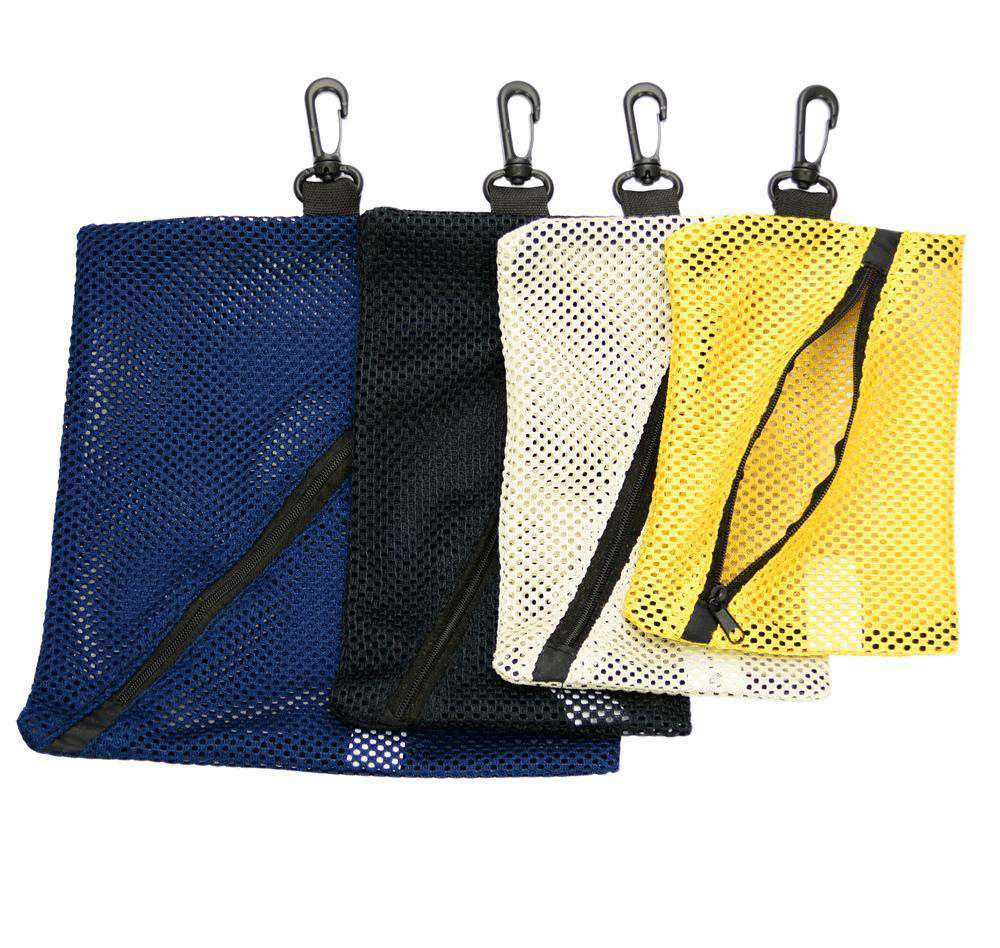 Accessory - Small Mesh Bags For Storage - 4pc Set, Different Colors & Sizes - By Mato & Hash®