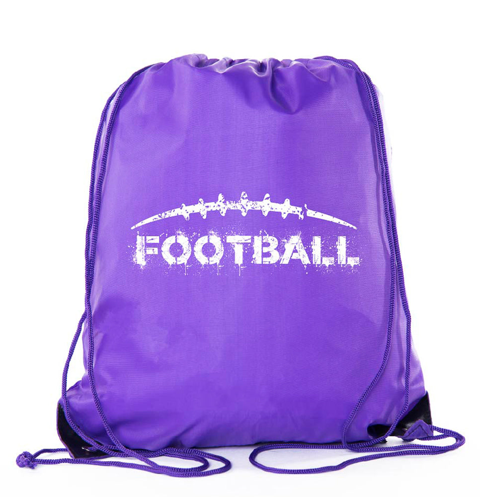 Accessory - Football Party Bags| Football Drawstring Cinch Backpacks For Team Events, Birthdays, And More! - Football Laces