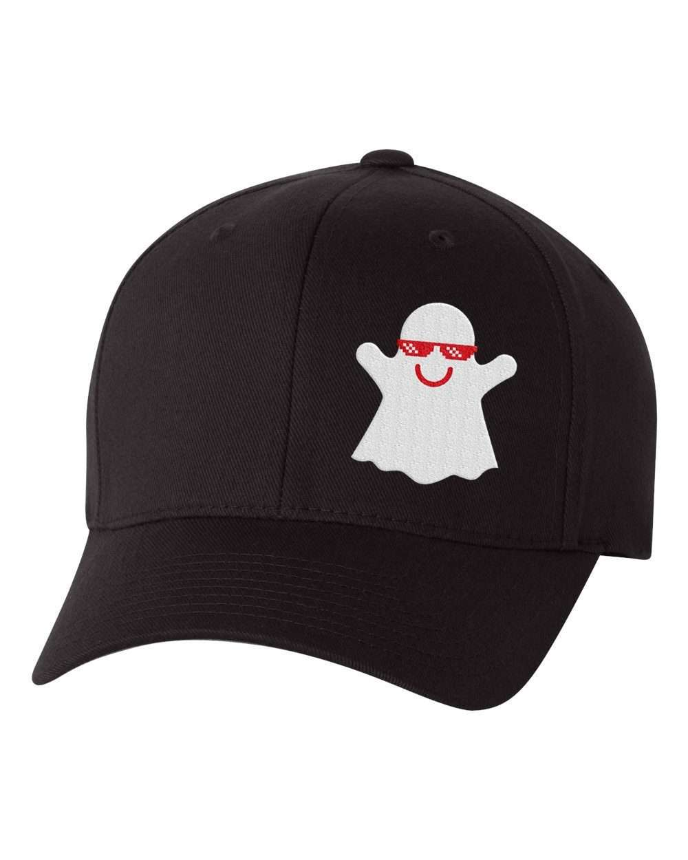 Hat - Ghost Custom Flex Fit Hat, Baseball Hat With Ghost