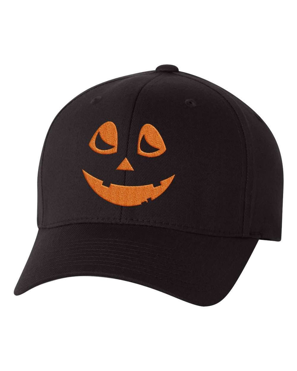Hat - Halloween Pumpkin Custom Flex Fit Hat, Baseball Hat With Jack Olantern