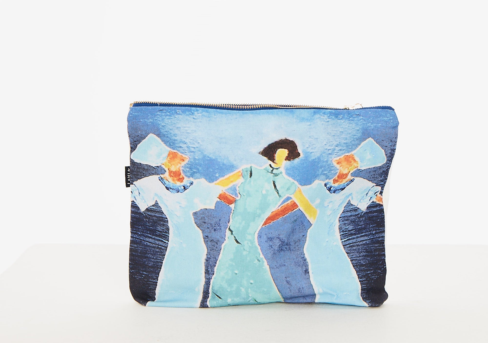 Dancing Ladies Canvas Zipper Bag