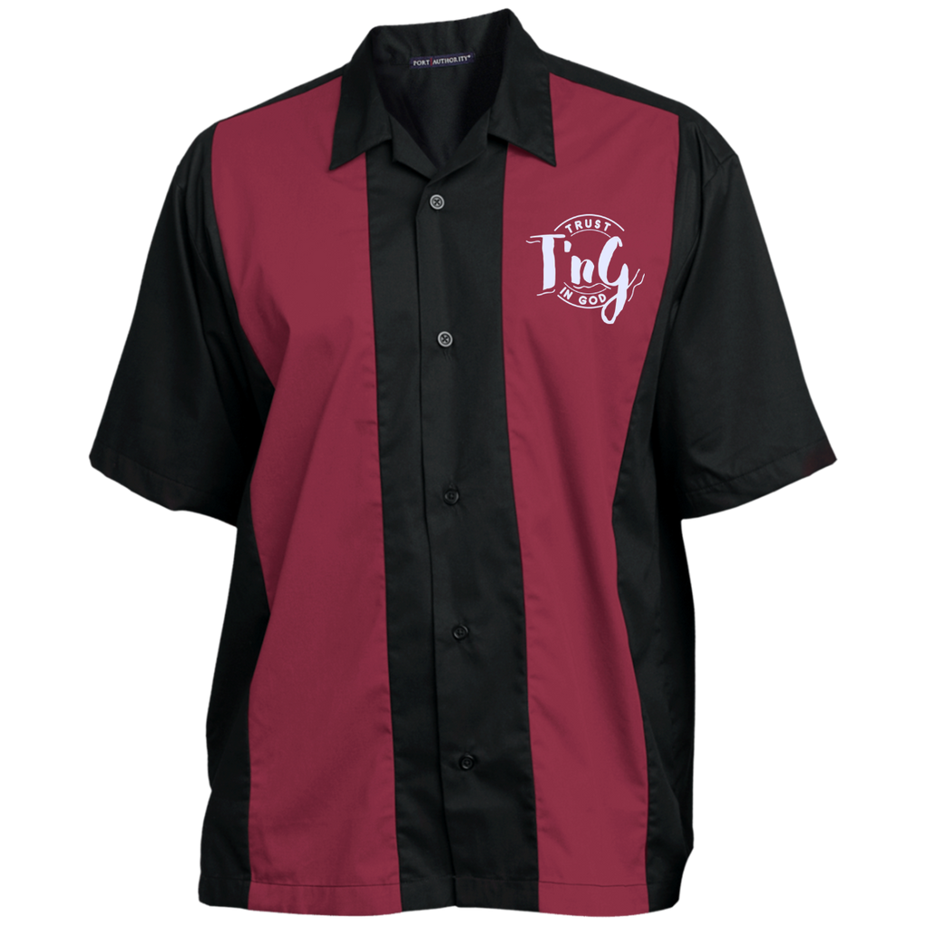 Mens Custom Embroidered Shirt Trust In God Products