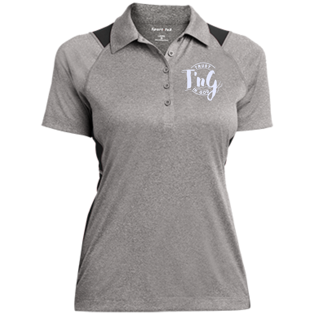 Ladies Heather Moisture Wicking Polo Trust In God Products
