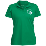 Womens Micropique Tag-Free Flat-Knit Collar Polo