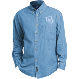 Custom Embroidered Long Sleeve Denim Shirt