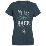 We are one race Dri Fit ladies tee!