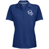 Women's Micro-Mesh Y-Neck Polo