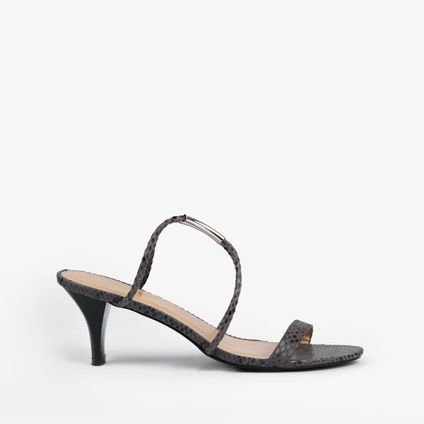 Estelle-Women shoes-Heels-Grey-Side View-JULKÉ