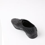 Zhao - Python skin men shoes in black color - JULKE