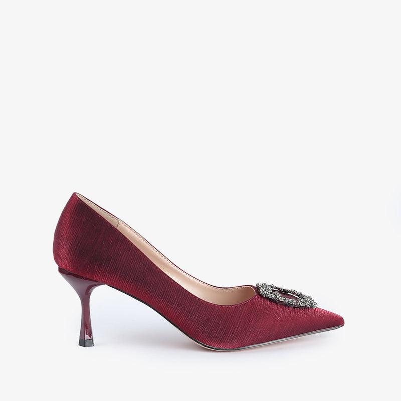 Kierra-Women shoes-Heels-Scarlet-Red-Side View-JULKÉ
