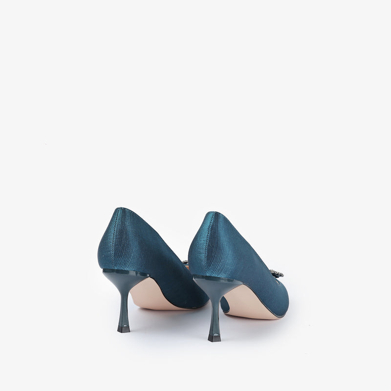 Kierra-Women shoes-Heels-Blue-Back View-JULKÉ