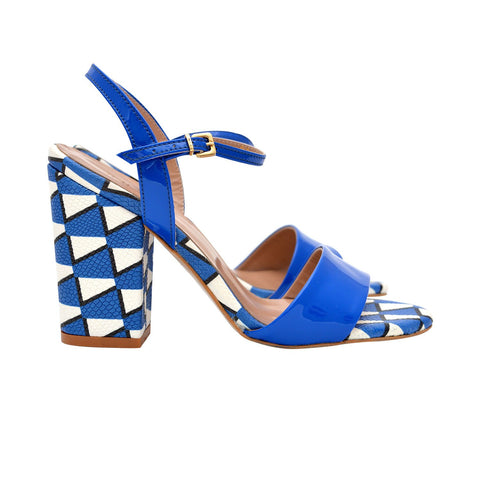 Tribella - block Heels in blue color - Julke