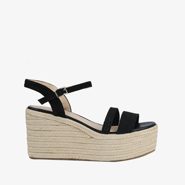 Laurel-Women shoes-Wedges-Wedge heels-Black-Side View-JULKÉ