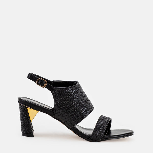Harriet-Women shoes-Block heel-Black-Side View-JULKÉ