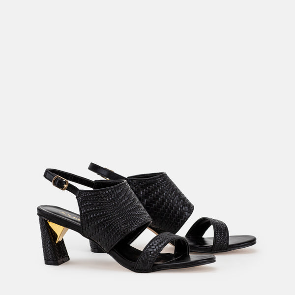 Harriet-Women shoes-Block heel-Black-Three Quarter View-JULKÉ