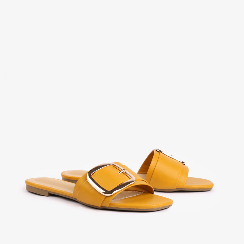Carol Women Flats in Yellow Colour - JULKÉ