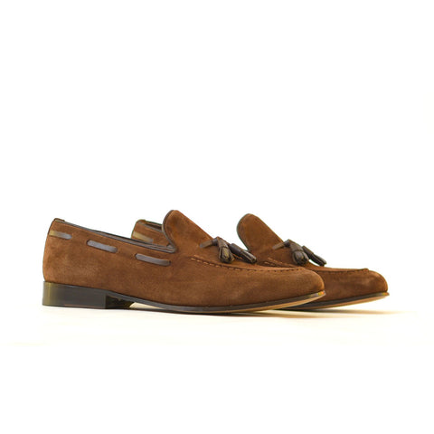Shepard - Mens suede casual shoes in brown color - Julke