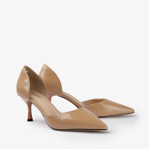 Vanessa-Women shoes-Heels-Brown-Three Quarter View-JULKÉ