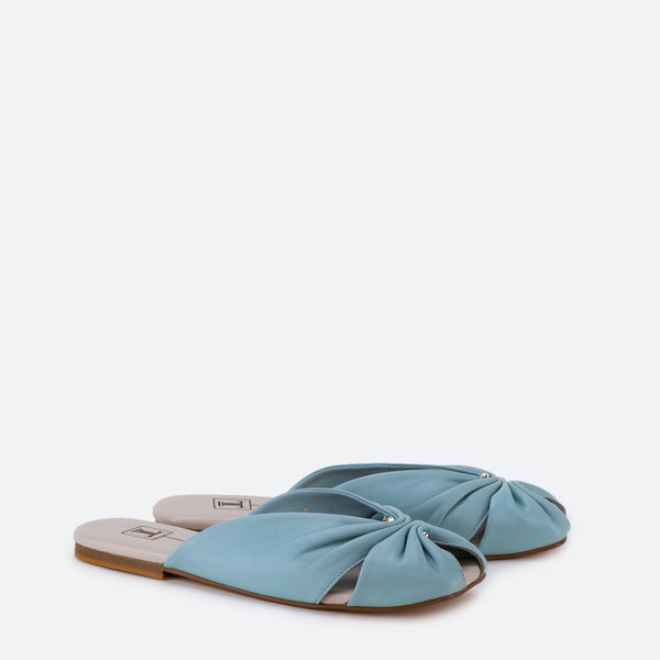 Claire - Woman Flat shoes in blue color - JULKE